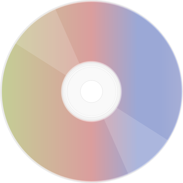CD with a rainbow reflective side vector illustration