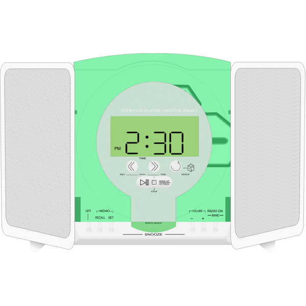 Stereo CD player vector graphics