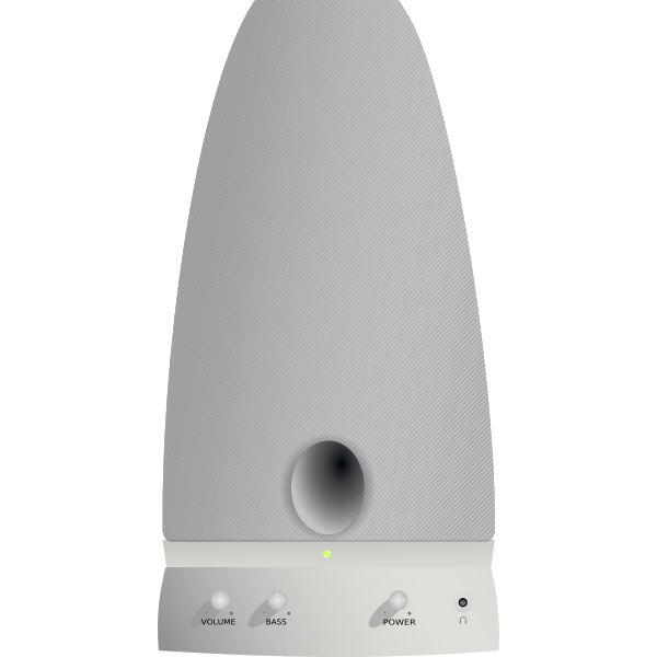 Vector image of PC loudspeaker