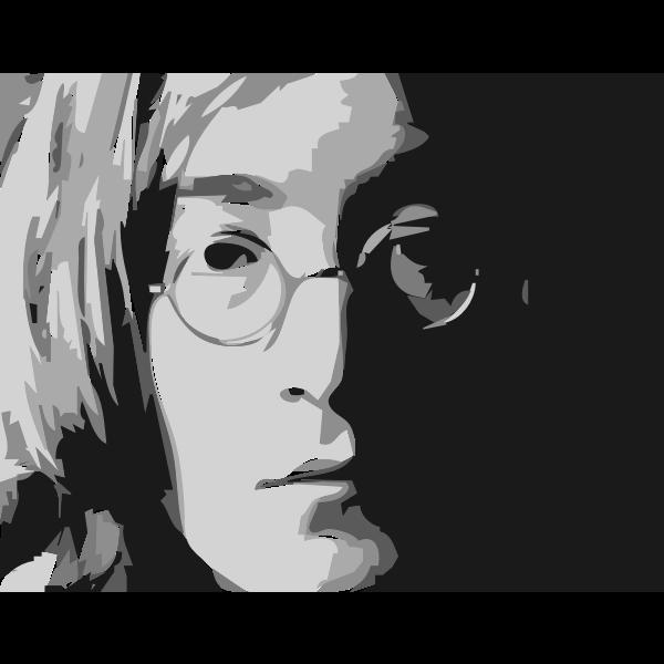 John Lennon portrait vector image