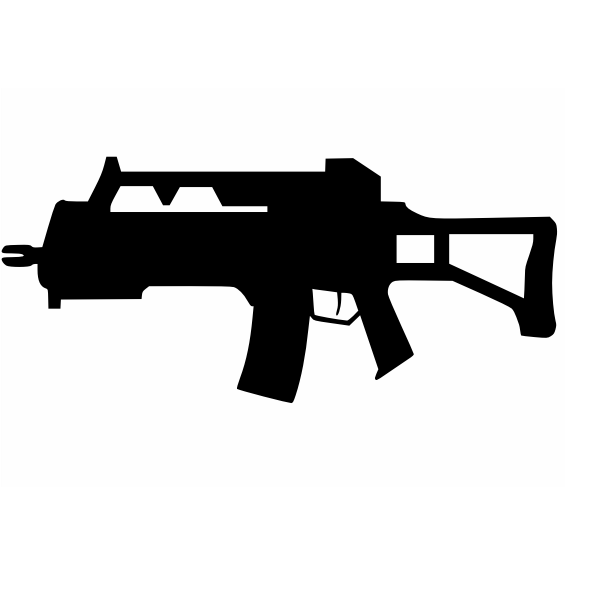 Assault rifle silhouette vector image