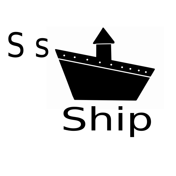 S for ship vector image