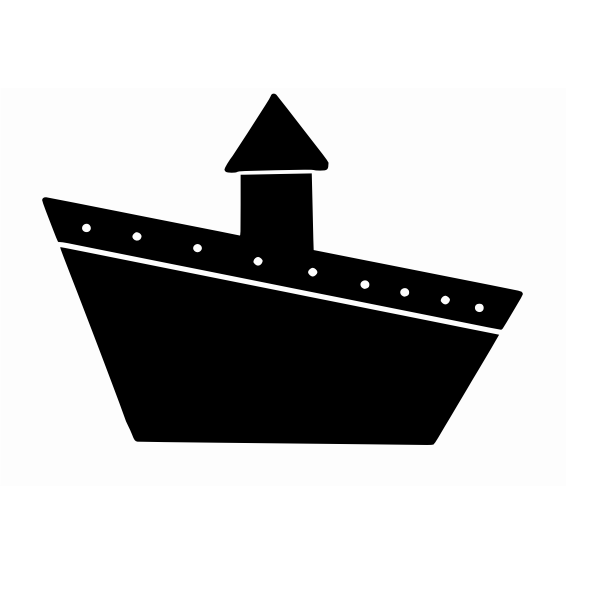 Ship sign vector drawing