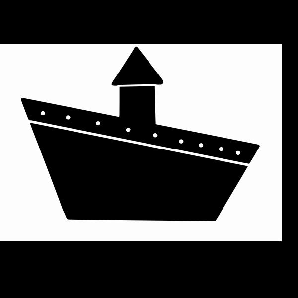 Ship sign vector drawing