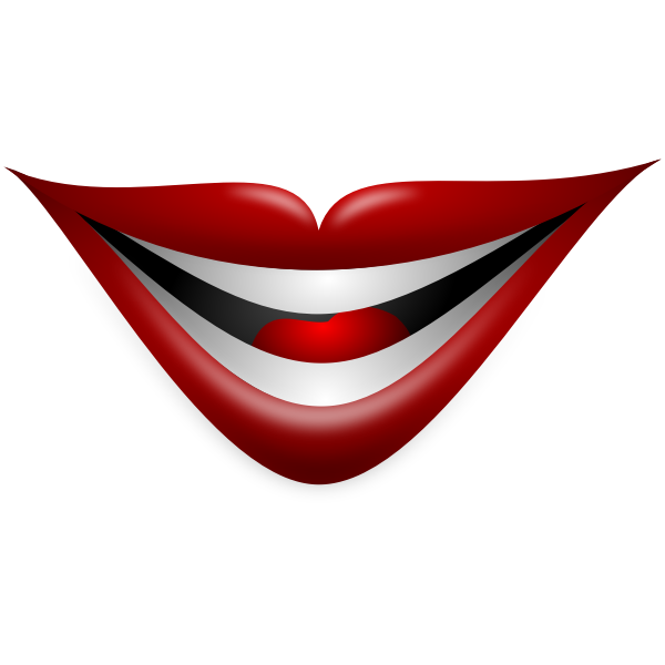 Joker smile vector image