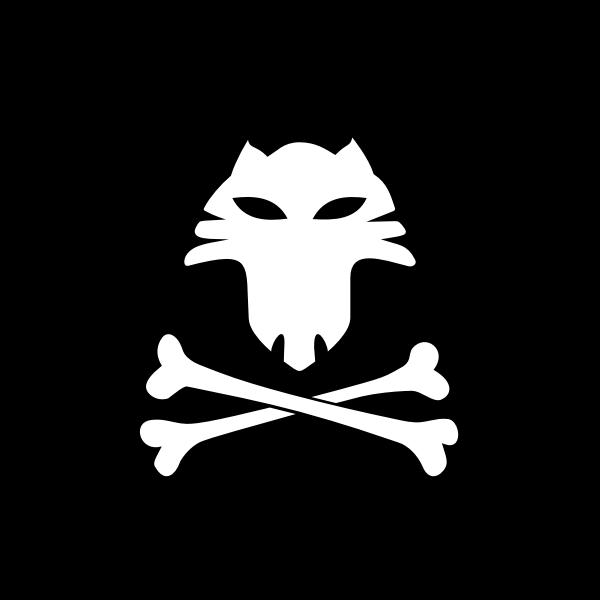 Cat pirate flag