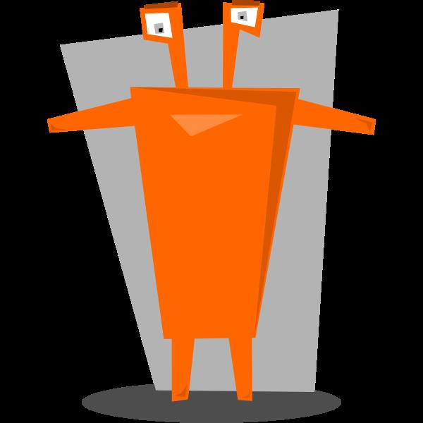 Image of orange humanoid night table