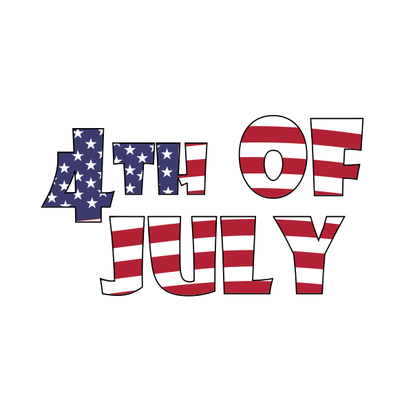 4th of July Waving Animation