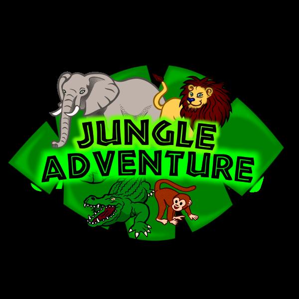 Clip art of Jungle Adventure Kids Club Logo