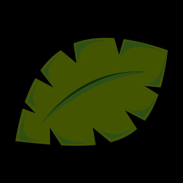 Vector image of leaf