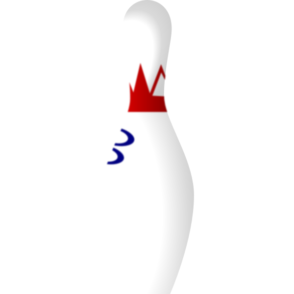 Bowling pin vector art