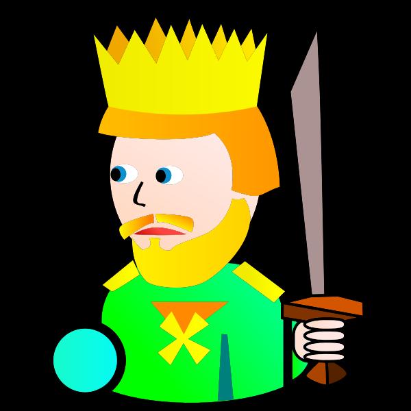 King of Clubs cartoon vector drawing