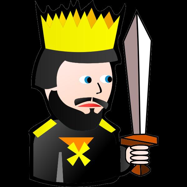 King of Spades cartoon vector clip art
