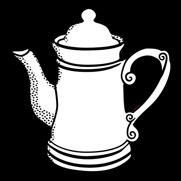 Vector image of high pot line art