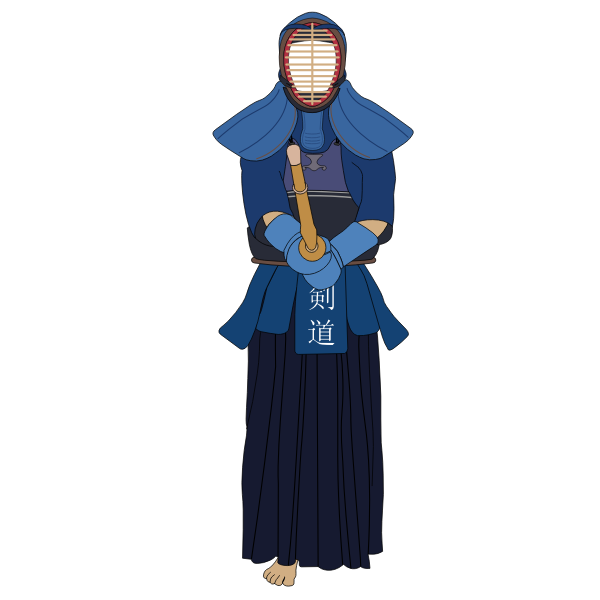 Kendo uniform vector image