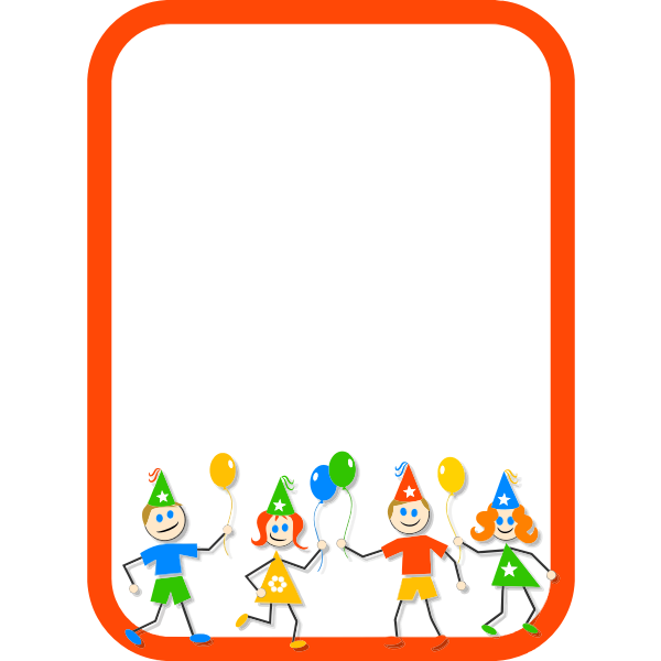 Kid's party frame