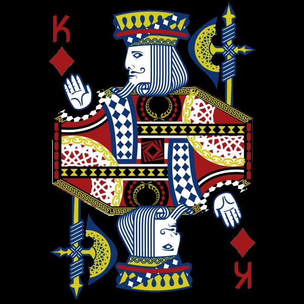 King of Diamonds gaming card vector illustration