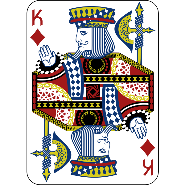 King of Diamonds gaming card vector illustration