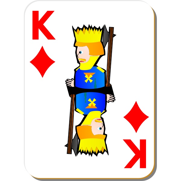 King of Diamonds gaming card vector image