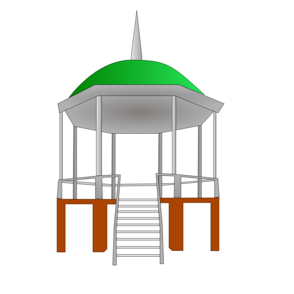 Vector graphics of kiosk