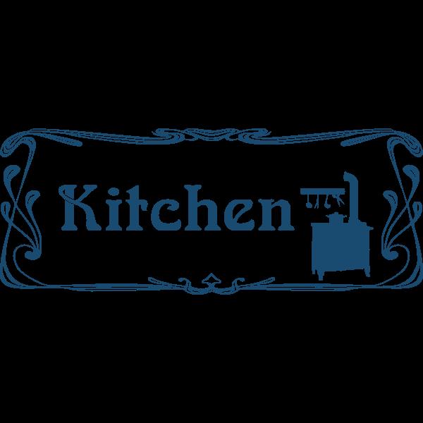 Classic style kitchen door sign vector image