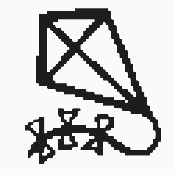 Kite with pixels