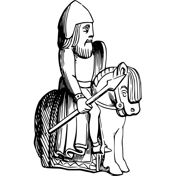 Chess piece silhouette