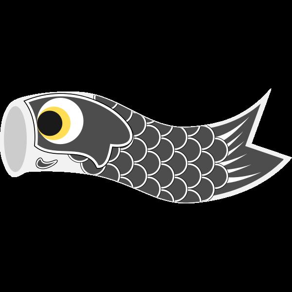 Vector graphics of grey Koinobori