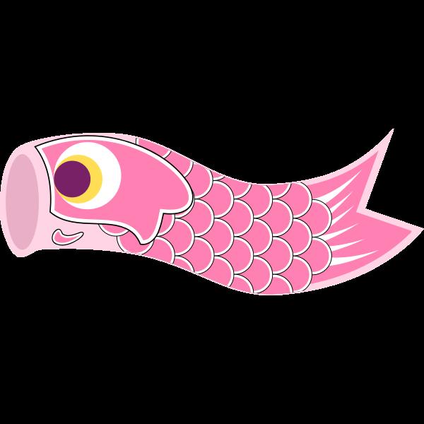 Pink Koinobori vector illustration