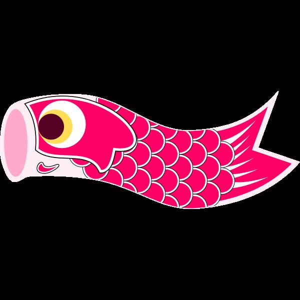 Vector illustration of red Koinobori