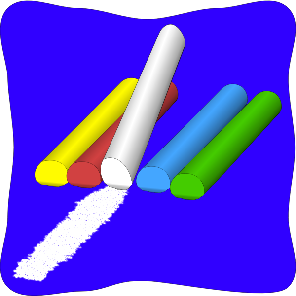 Color chalk vector drawing