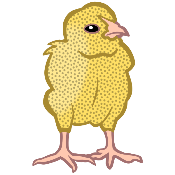 Colored chicken