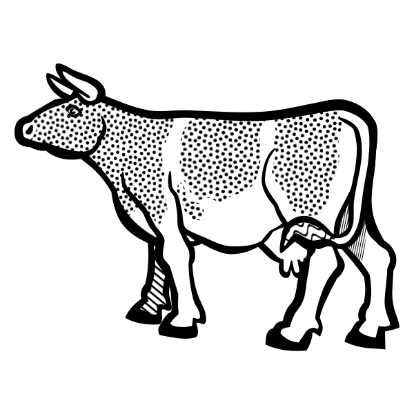 Cow image from coloring book