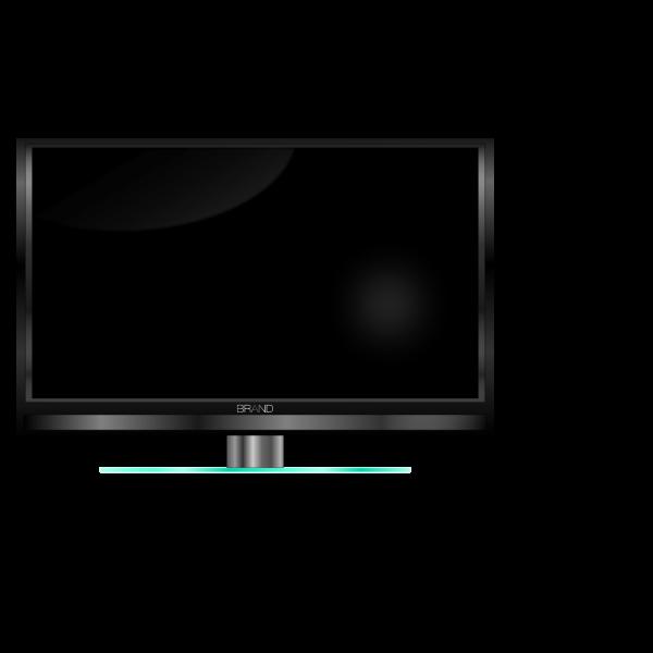 High definition TV set vector clip art