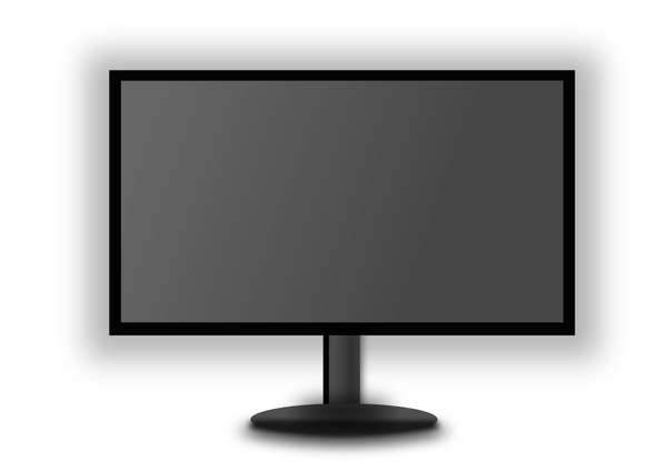 LED Monitor grey screen