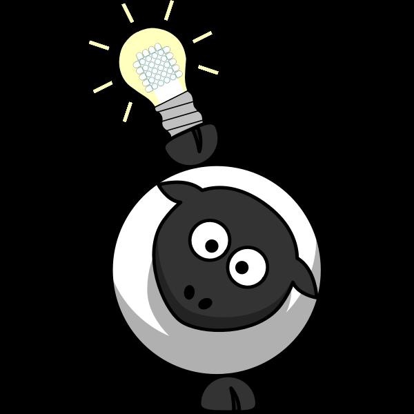 Sheep and light bulb