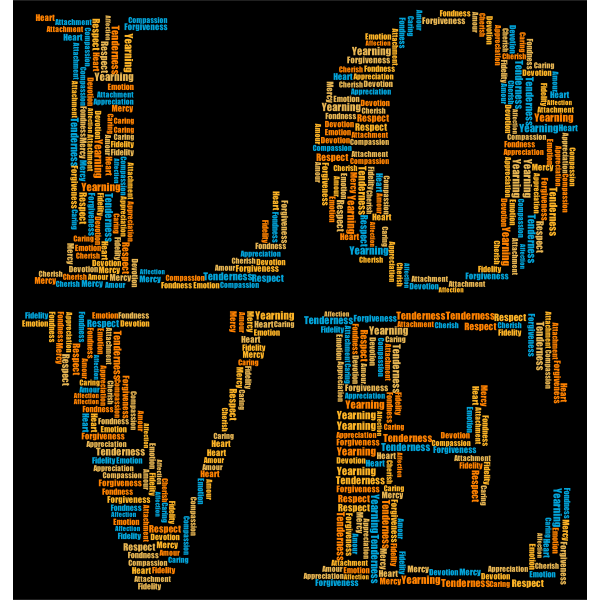 LOVE Word Cloud Typography