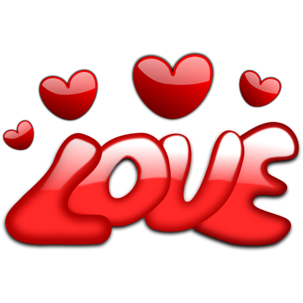 Love surrounded by hearts vector image