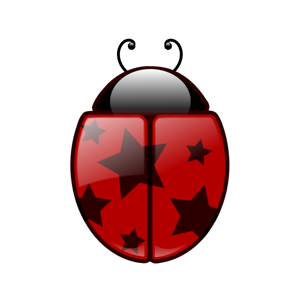 Vector clip art of ladybird insect