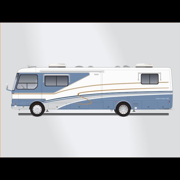 Land yacht motorhome bus vector image