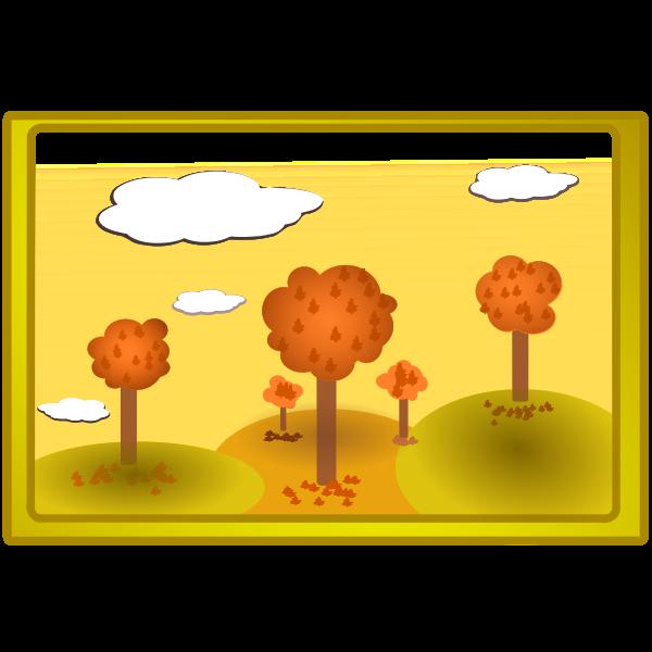 Fall nature landscape vector illustration