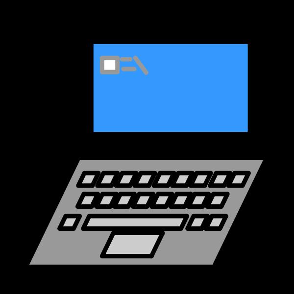 Vector clip art of clean laptop design