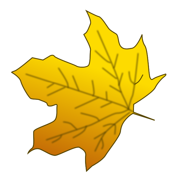 Yellow maple leaf vector image