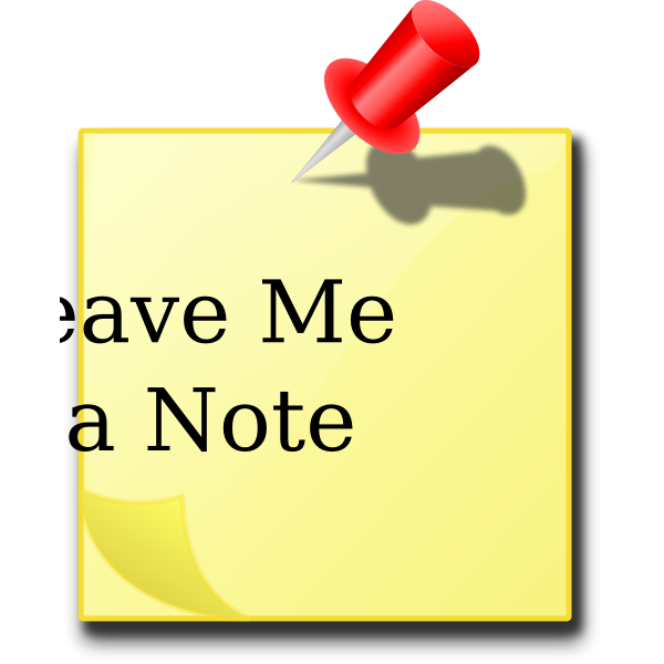''Leave Me A Note'' Message