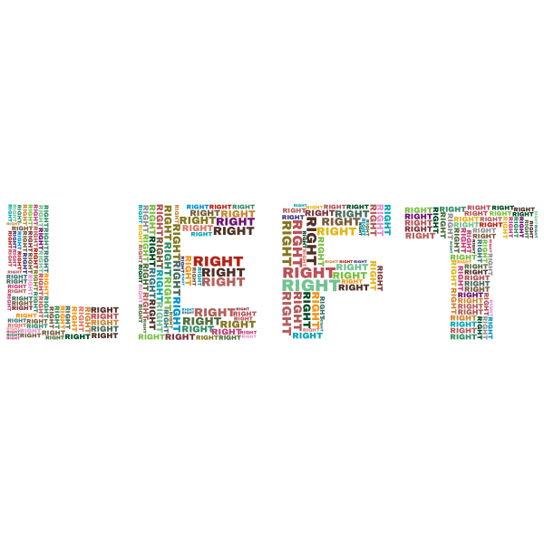 Left Right word cloud