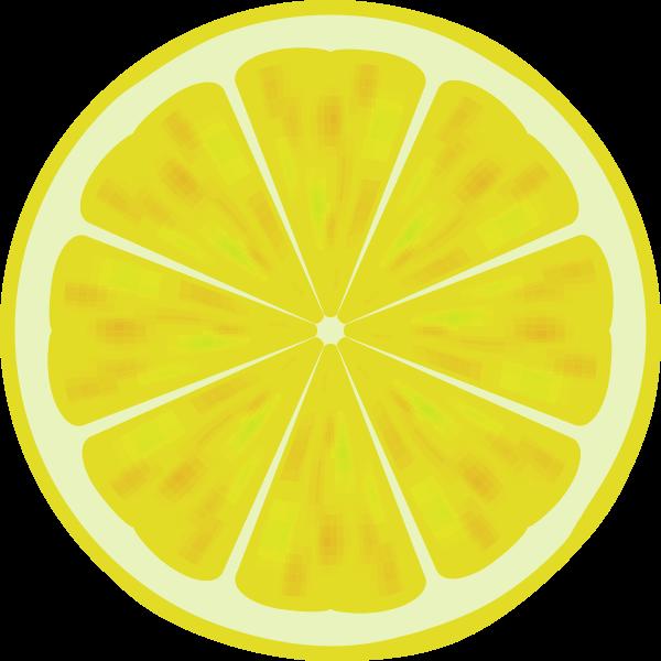 Lemon slice vector drawing