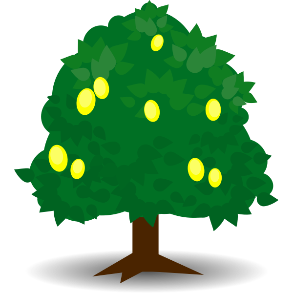 Lemon tree vector graphics