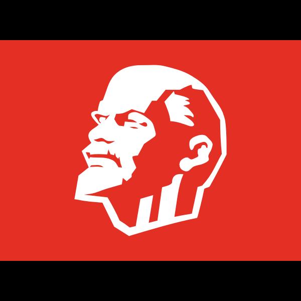 Vector clip art of Leninist flag