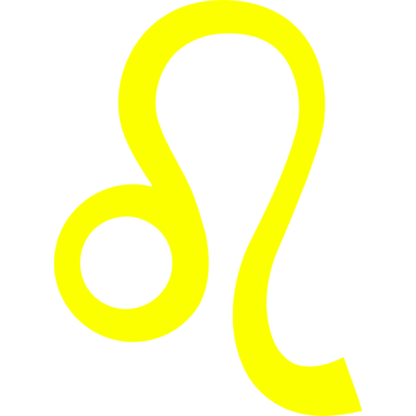 Yellow leo sign