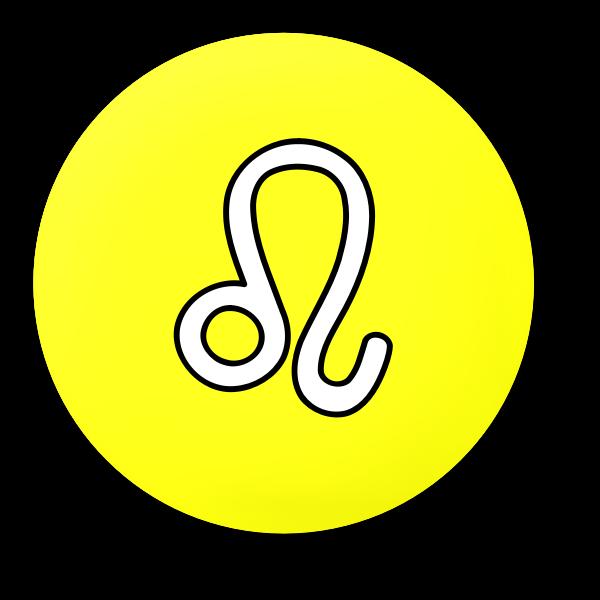 Round Leo symbol